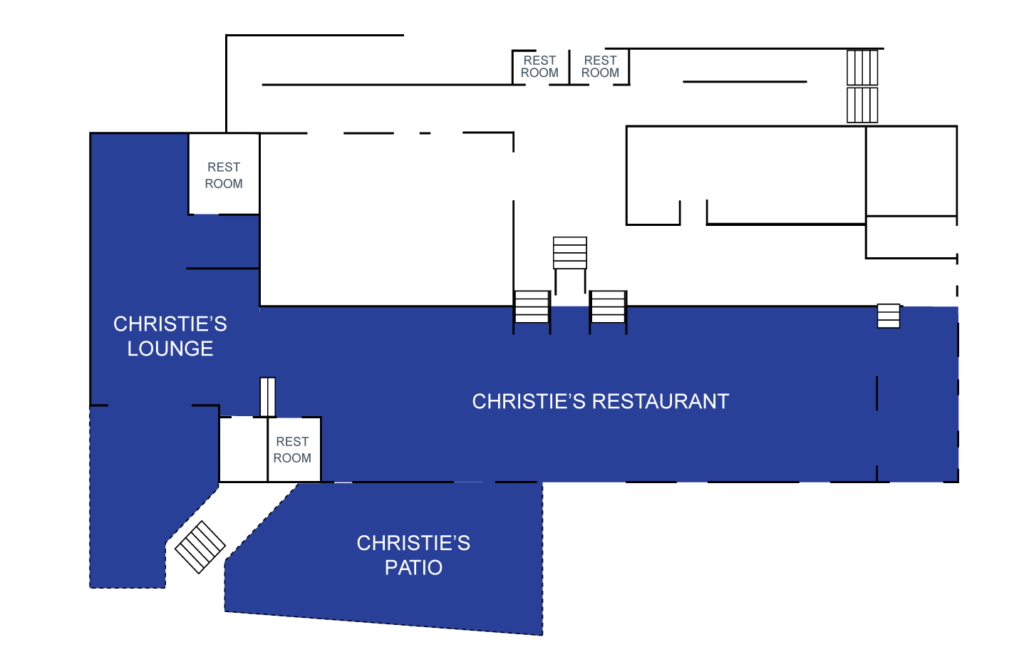 CHRISTIE'S LOUNGE, PATIO AND RESTAURANT, CHRISTIE'S 1ST FLOOR
